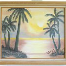 Original Painting Dorris Babb Sunset Beach Tropical Landscape Florida Highway