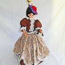 Vintage Victorian Costume Lady Doll Fashion Lamp Fancy Large Scale Hat Lace