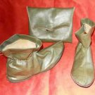 Hunting Boots Mod Boho PIXIE Rubber Unmarked Vintage 60s Rain Booties Bag Green