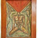Latin American Nude Surrealist Painting Male  Bloody Headless Vintage D'Silvilla