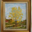 Cuba Folk Art Vintage Painting Landscape Tiny Shack Huge Tree Lola de Rafasiall