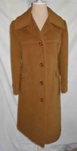 Vintage 60s Polo Coat NOS Deadstock Wool Swing Swagger Camel Lorendale B Altman