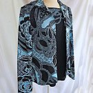 St John Collection Jacket Sweater Set Deadstock Knit Print Sparkles 8 & S