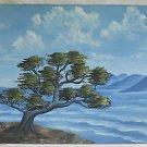 Folk Art Vintage Painting Torrey Pines California Coastline San Diego Sheila 85