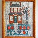 Architectural Vintage Needlepoint Halloween House Pumpkin Cat Staten Island N.Y.