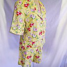 Judy Hornby Vintage Deadstock Nos Flower Print Shorts and Jacket Suit Floral 10