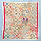 "Quilt Antique Vintage Country Pieced Handstitched 72"" x 82"" Wall Hanging Cover"