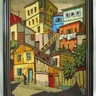 Cubist Vintage Needlework Modernist City Slums Bold Powerful Manu Frame Laundry