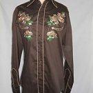 Vintage Western Cowboy Shirt Roper Embroidered Daisy Flower Denver Deadstock
