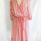 Vintage 80s DVF Diane von Furstenberg Dress  Wrap Deadstock Silk Stripe NOS 12