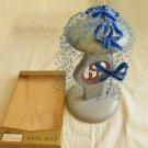 Hat Veil Fascinator Vintage 50s Deadstock In Box Headpiece Velvet Bow Primstyle