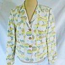 Akris Punto Jacket Blazer Deadstock Mixed Print Summer Spring Dot Stripe NOS 10