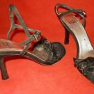 Stuart Weitzman Evening Sandals Shoes Jewels Twist 7N Black Sparkly Stones