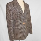 Max Mara Jacket Deadstock NOS Wool Blazer Houndstooth Check Italy Mannish