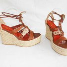 Sandals Isabella Fiore Wedge Platform Espadrilles Lace Up Ankle Wrap Sky High 9