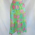 Manuel Canovas Print Flower Skirt Midi Maxi Tiered Floral Summer Deadstock 8/10