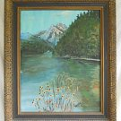 Folk Art Vintage Painting Yosemite California Plein Air Western Landscape Waller