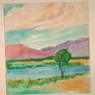Marco ZIM 30s Original Watercolor San Diego California Landscape Painting WPA