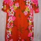 Vintage 60s Hawaiian Dress Print Shift Reef Hawaii Column Tropical Deadstock