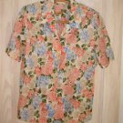 Hawaiian Shirt Brooks Brothers Print Floral Preppy Camp Deadstock Pastel Nos 12