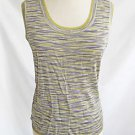 Missoni Deadstock New Old Stock Tank Camisole Sweater Wavy Yellow Purple Green