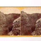 Stereoview WH Jackson #122 Box Elder Canon US Geological Survey Hayden Anthony