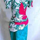 Deadstock Flora Kung Dress Vintage 80s NOS Silk Print Sarong Dropped Waist 4
