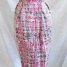 YSL Yves Saint Laurent Skirt Pencil Silk Pink Print Deastock NOS New Old Stock