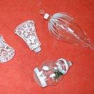 Christmas Vintage Ornaments Frosted Glass Santa Bells Big Acorn Italy Moderne 4