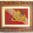 Vintage Scuba Advertising Folk Art Sign Modernist Fish Cartoon Diving Locker