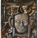 Tribal Fetish Vintage Painting Mask Carving Long Ears Original Idol A Vargot