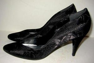 Stuart Weitzman Pumps sexy Low Cut 8 AA 8AA Silk Brocade Shoes Cutaway