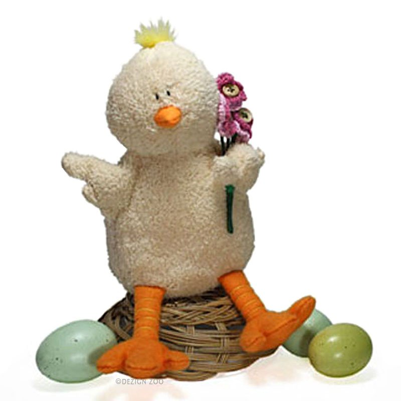 Plush Baby Chick Shelf Sitter Soft Sculpture Figurine Easter Decor