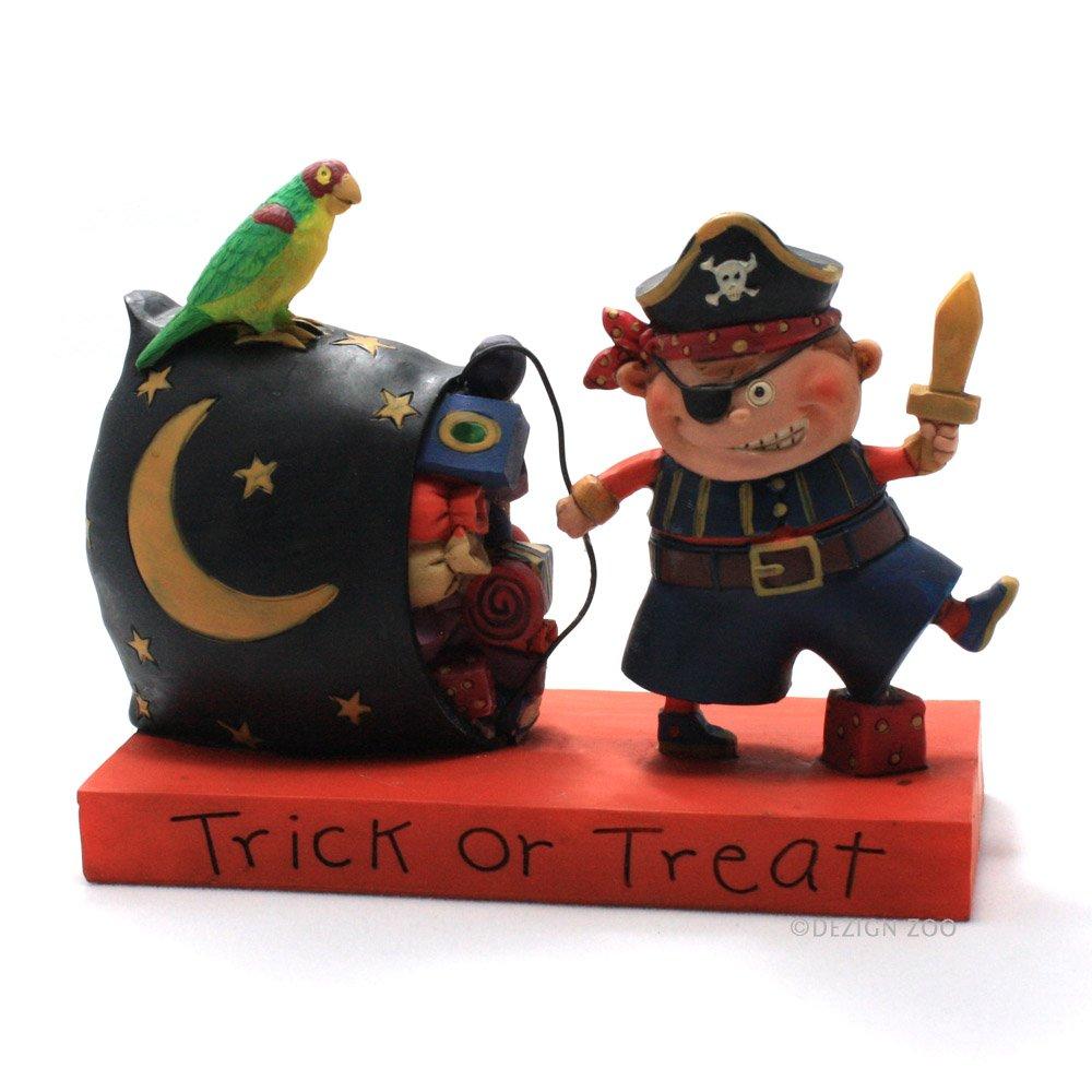 Trick Or Treat Halloween Boy in Pirate Costume Figurine