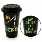 Our Name Is Mud Enesco WICKED Halloween or Everyday Stoneware Travel Mug