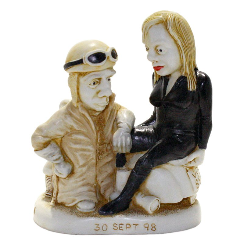 Harmony Kingdom Leather Anniversary Solid Cake Topper Figurine