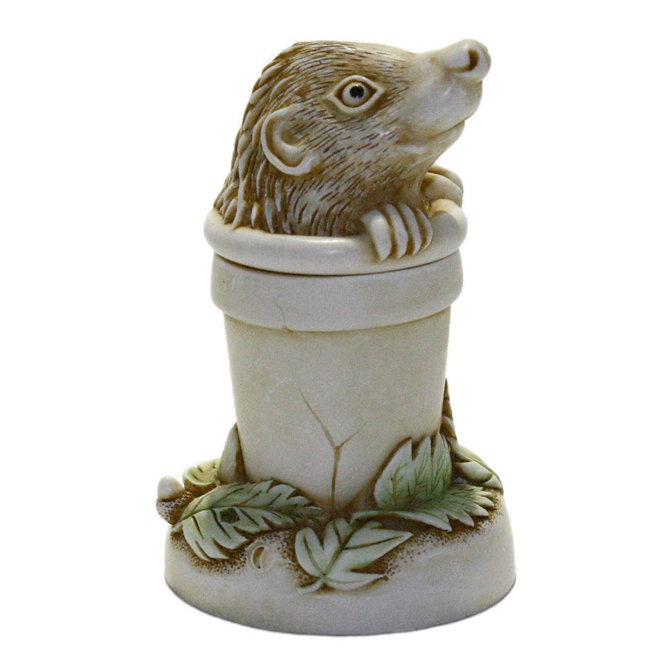 Harmony Kingdom TJHE4 Pot Sticker Hedgehog in Flower Pot