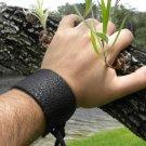 Men bracelet Black Buffalo Bison Leather wristband Adjustable Native Indian styl