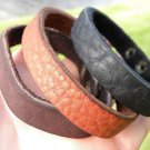Buffalo leather  cuff handmade  Navajo Native Indian style Bracelets wristband