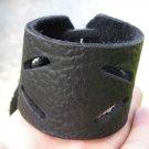 Men bracelet Black Genuine Buffalo Leather wristband Handmade Adjustable Indian
