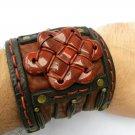 Handmade cuff wristband Men`s cuff Bracelets Buffalo Leather 3 inch Indian Style