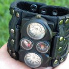 Buffalo Leather handmade  watch bracelet for Men`s Valentine's Day gift compass