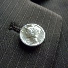 Vintage authentic  Silver Mercury dime coins handmade label pin brooch