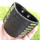 Men bracelet Black Genuine Buffalo Leather wristband Native Indian style ketoh