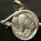 Handmade Cuff links Vintage Buffalo Indian Nickel coins handmade Men`s mg