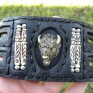 Men`s Bracelet  Buffalo Leather Buffalo Head bones Indian style  Ketoh