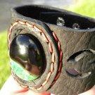 Natural  Agate Stone Bracelet Genuine Buffalo Leather customize cool