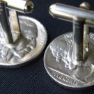 Handmade Cuff link Authentic Vintage Buffalo Indian Head Nickel coin cuff links