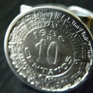 Men ring Authentic Aztec calendar coin handmade ring 10 centavos Mexican ring