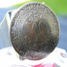 Vintage Ring Mexican Coin Aztec calendar Adjustable Handcrafted Antique Jewelry